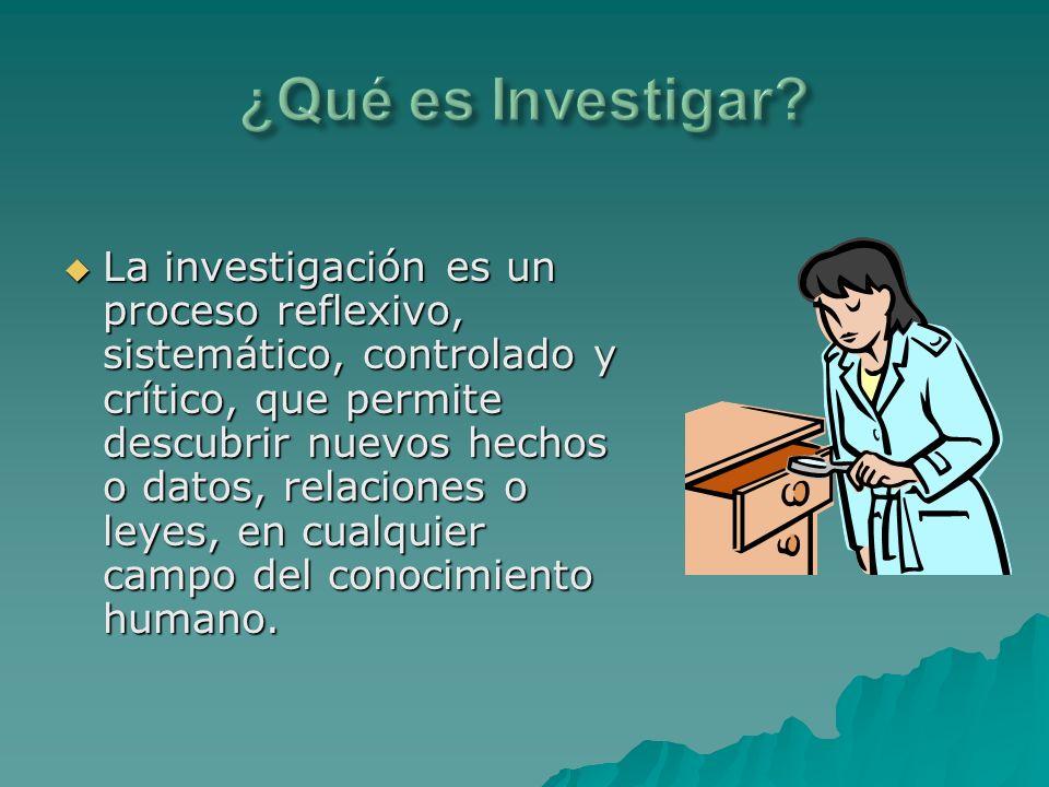 ¿Qué es Investigar