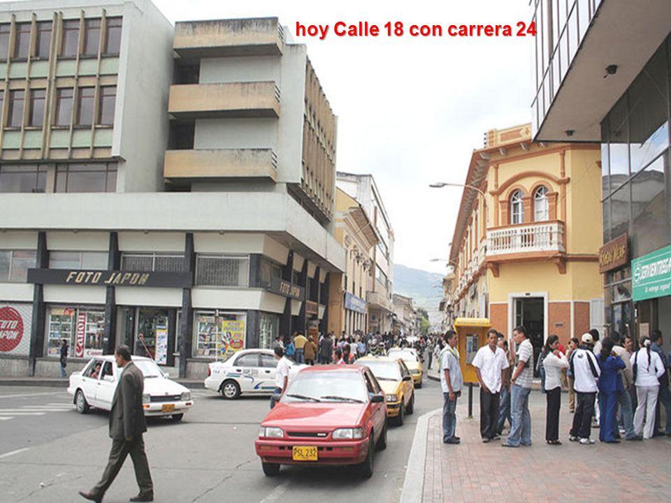 hoy Calle 18 con carrera 24