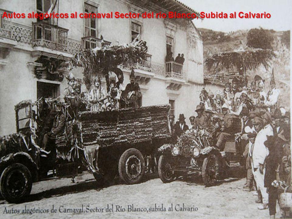 Autos alegóricos al carnaval Sector del río Blanco, Subida al Calvario