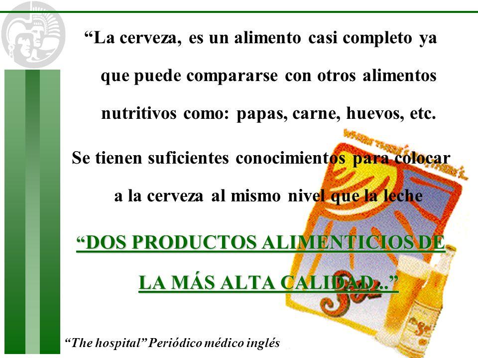 DOS PRODUCTOS ALIMENTICIOS DE LA MÁS ALTA CALIDAD...