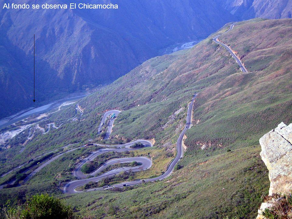 Al fondo se observa El Chicamocha