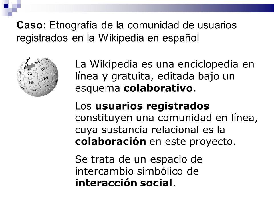Caso: Etnografía de la comunidad de usuarios registrados en la Wikipedia en español