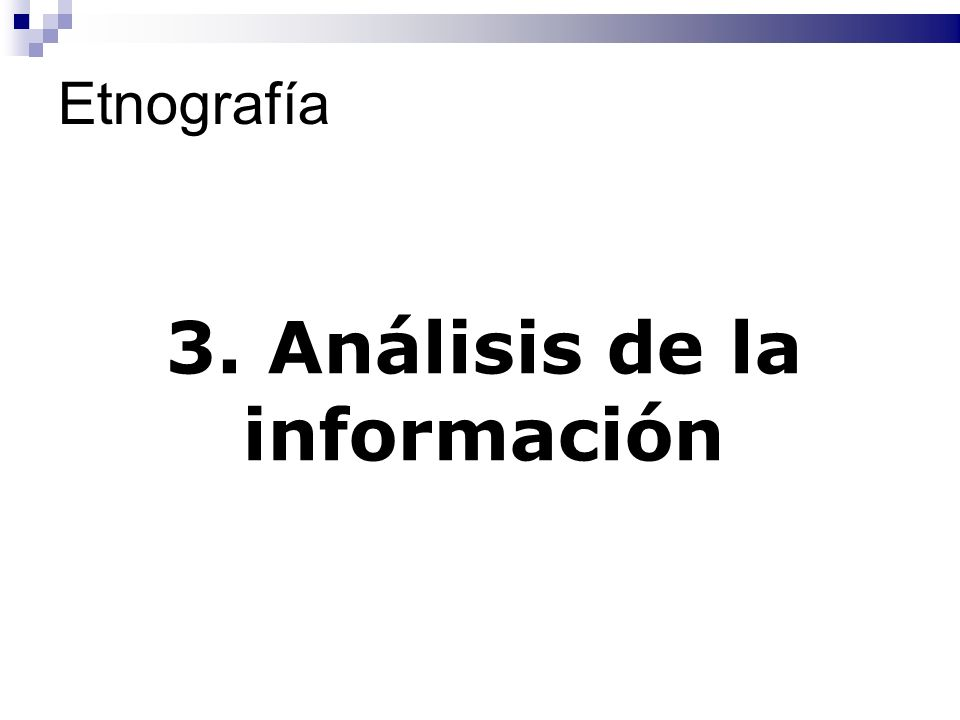 3. Análisis de la información