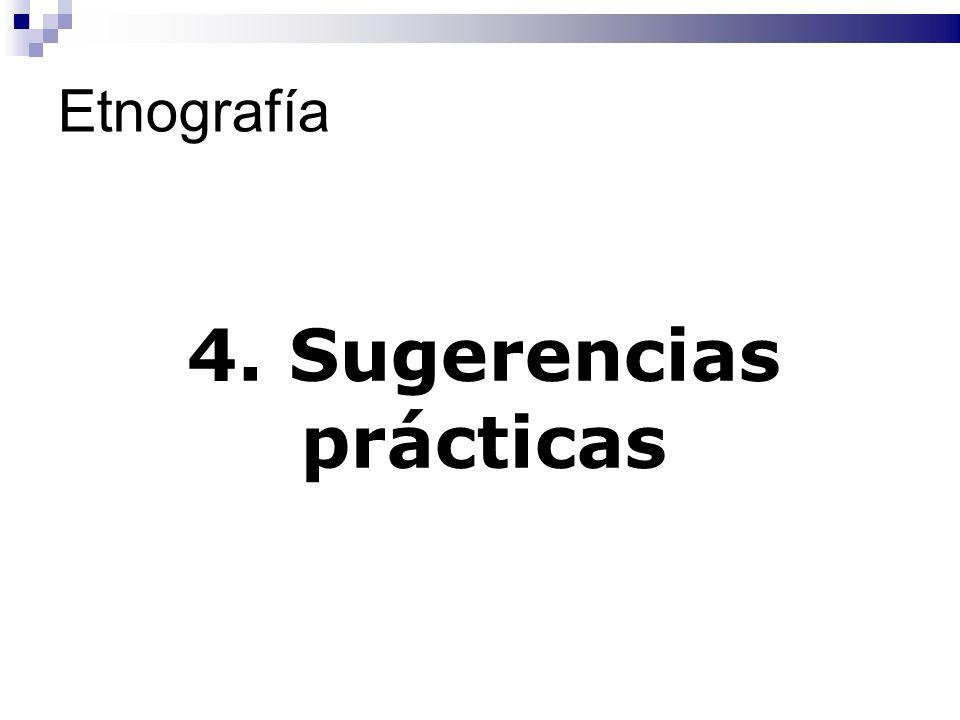 4. Sugerencias prácticas