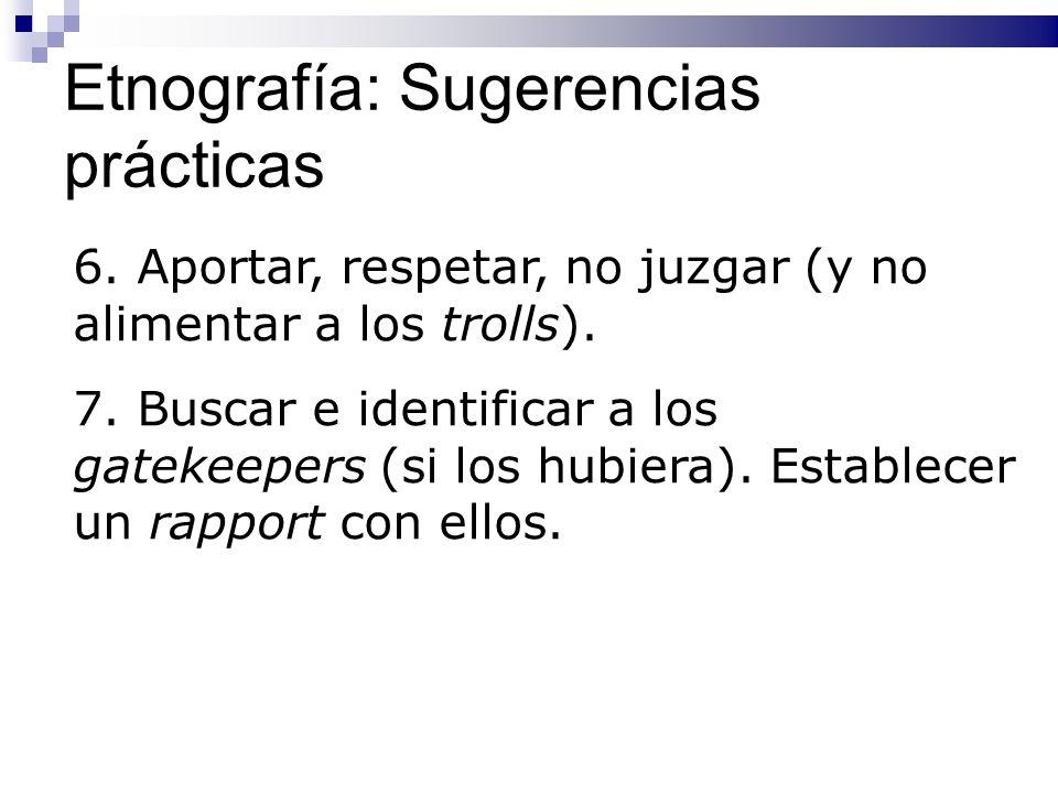 Etnografía: Sugerencias prácticas