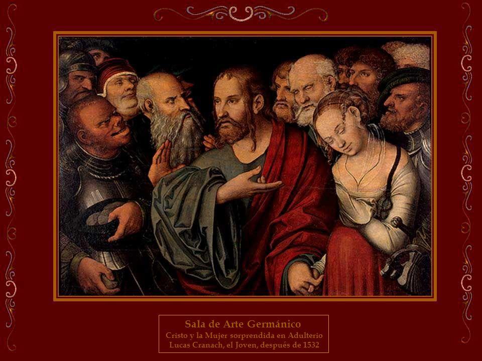 Sala de Arte Germánico Cristo y la Mujer sorprendida en Adulterio