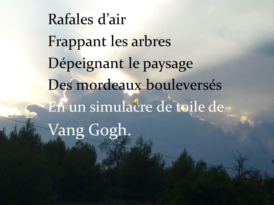 Vang Gogh. Rafales d'air Frappant les arbres Dépeignant le paysage