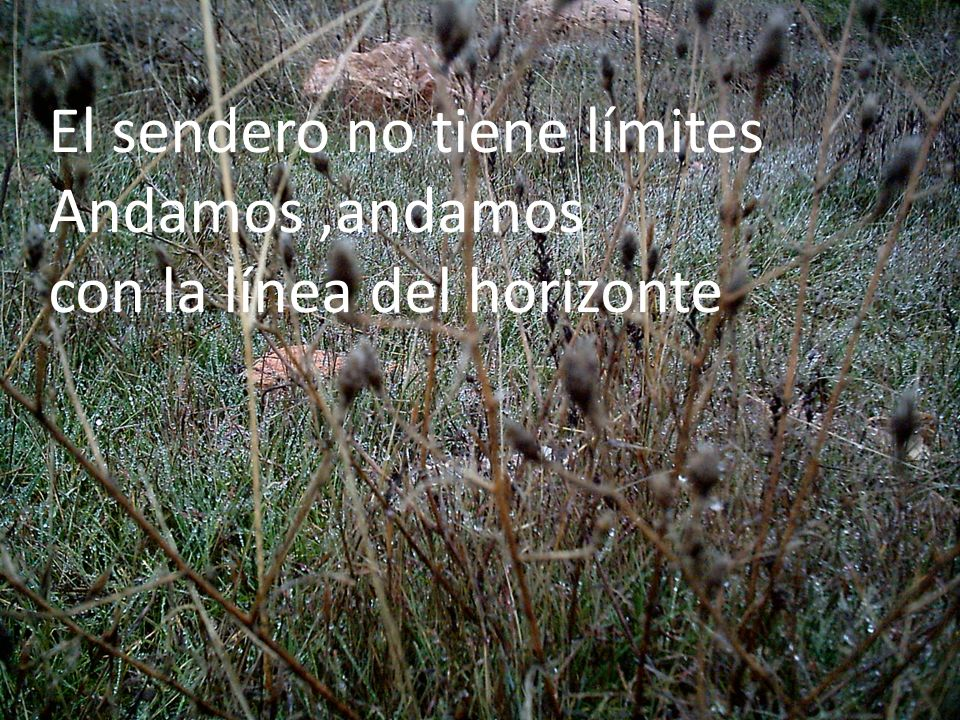 El sendero no tiene límites Andamos ,andamos con la línea del horizonte