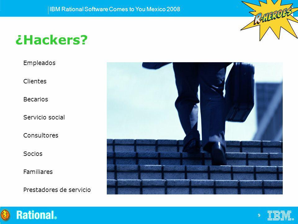 ¿Hackers Empleados Clientes Becarios Servicio social Consultores