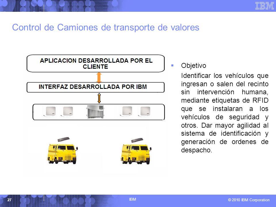 Control de Camiones de transporte de valores