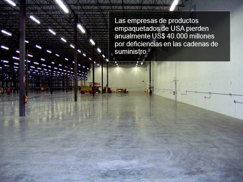 Las empresas de productos empaquetados de USA pierden anualmente US$ 40.000 millones por deficiencias en las cadenas de suministro.