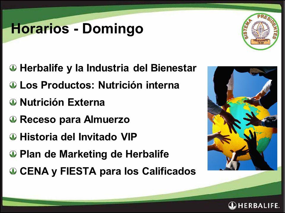 Horarios - Domingo Herbalife y la Industria del Bienestar