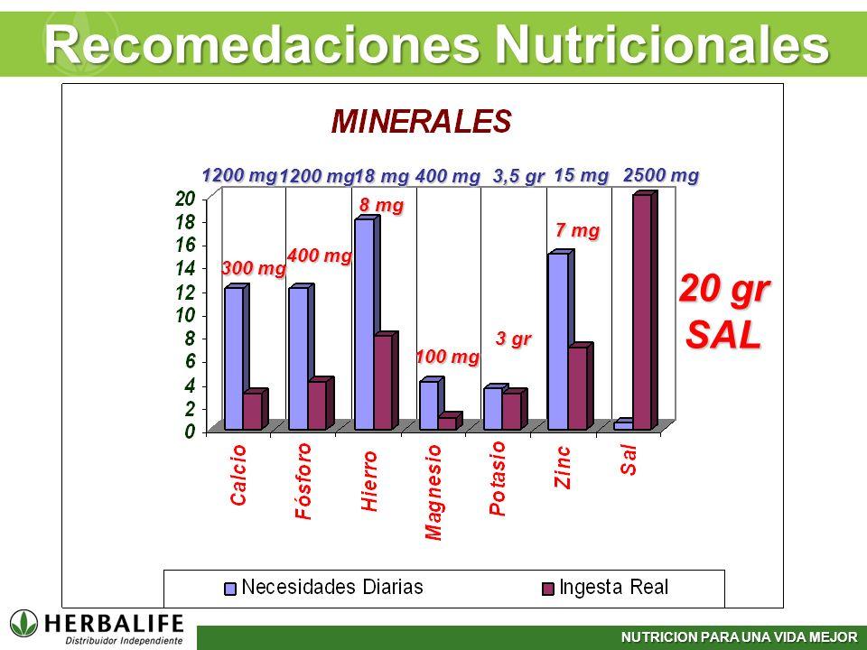 Recomedaciones Nutricionales