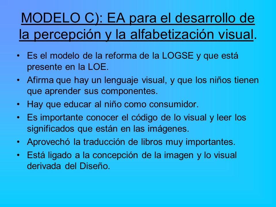 MODELO C): EA para el desarrollo de la percepción y la alfabetización visual.