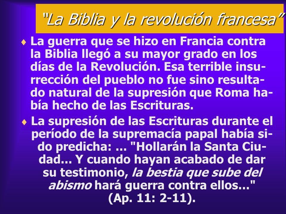 La Biblia y la revolución francesa