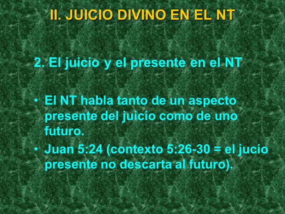 II. JUICIO DIVINO EN EL NT
