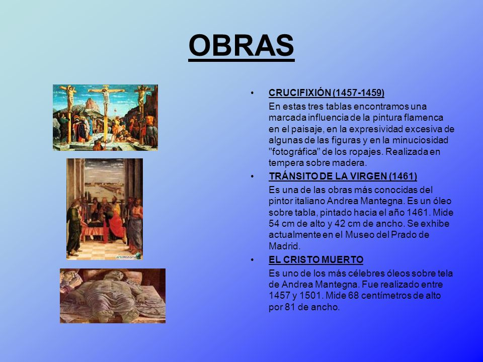 OBRAS CRUCIFIXIÓN (1457-1459)