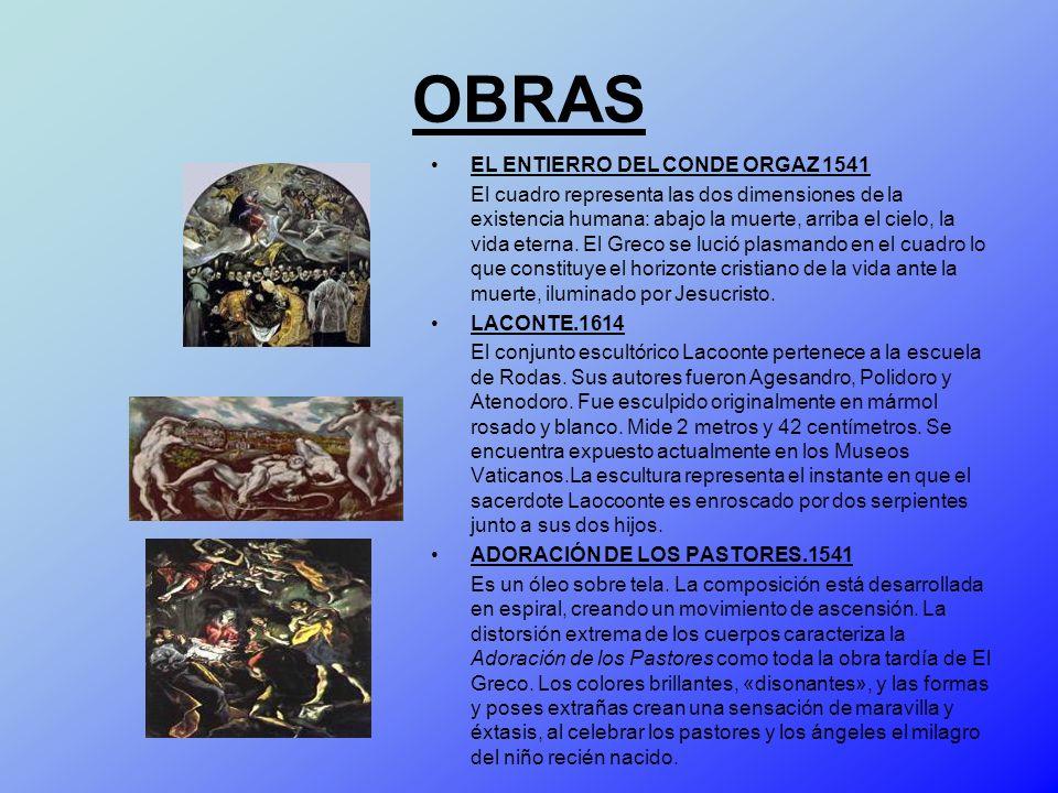 OBRAS EL ENTIERRO DEL CONDE ORGAZ 1541