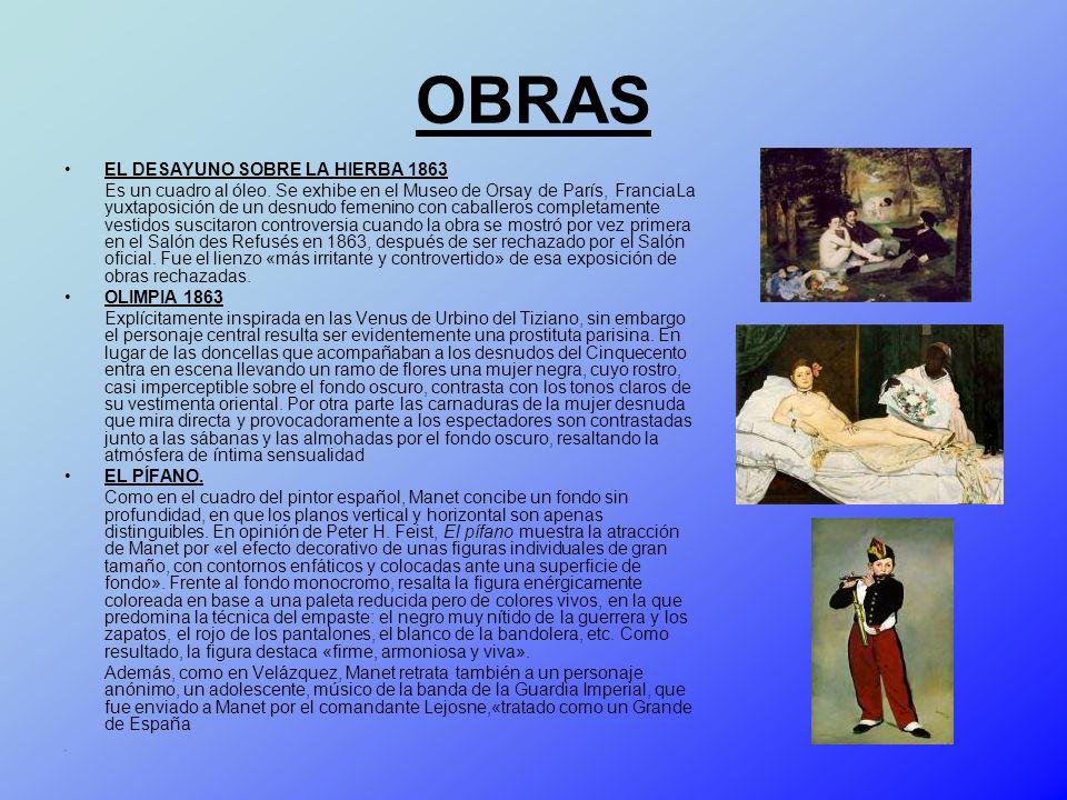 OBRAS EL DESAYUNO SOBRE LA HIERBA 1863