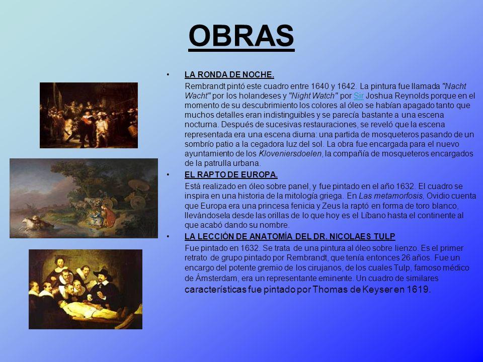 OBRAS LA RONDA DE NOCHE.