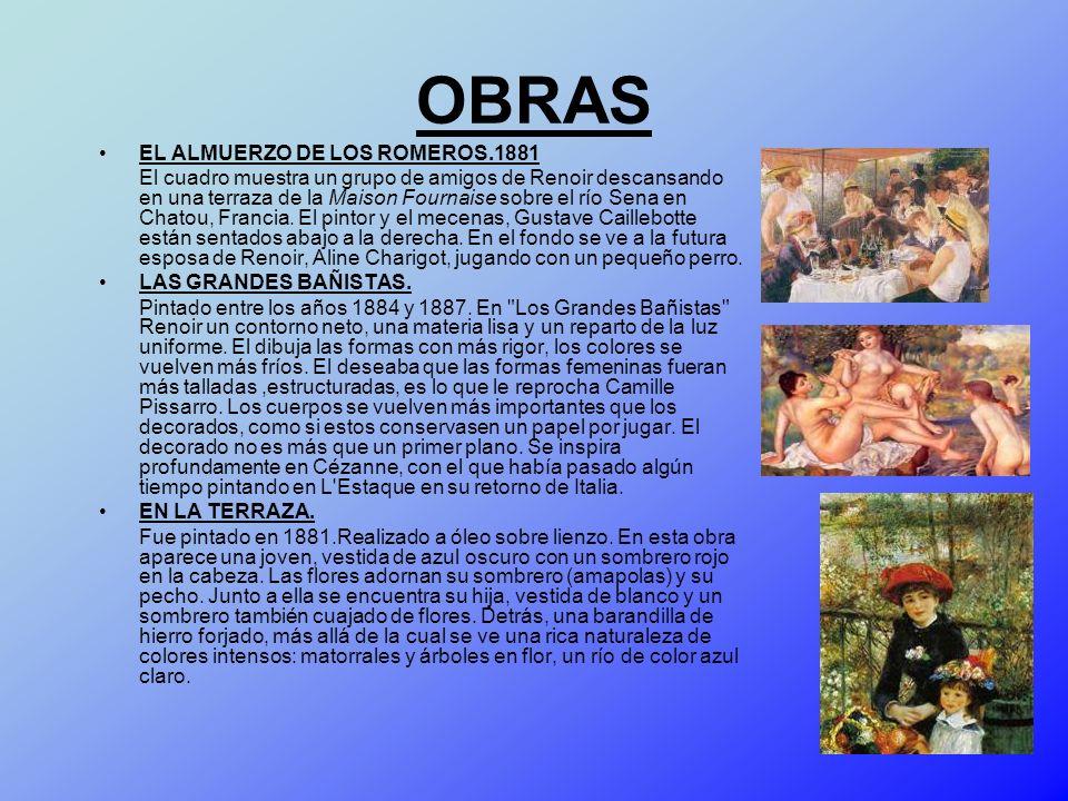 OBRAS EL ALMUERZO DE LOS ROMEROS.1881