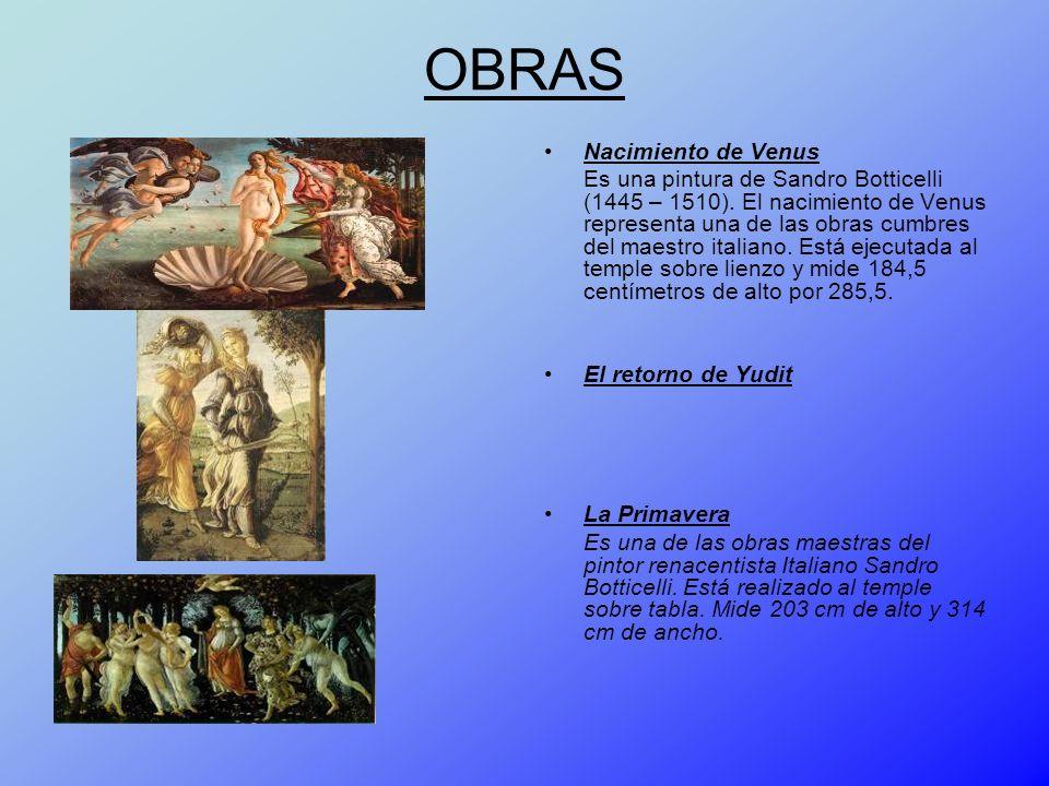 OBRAS Nacimiento de Venus
