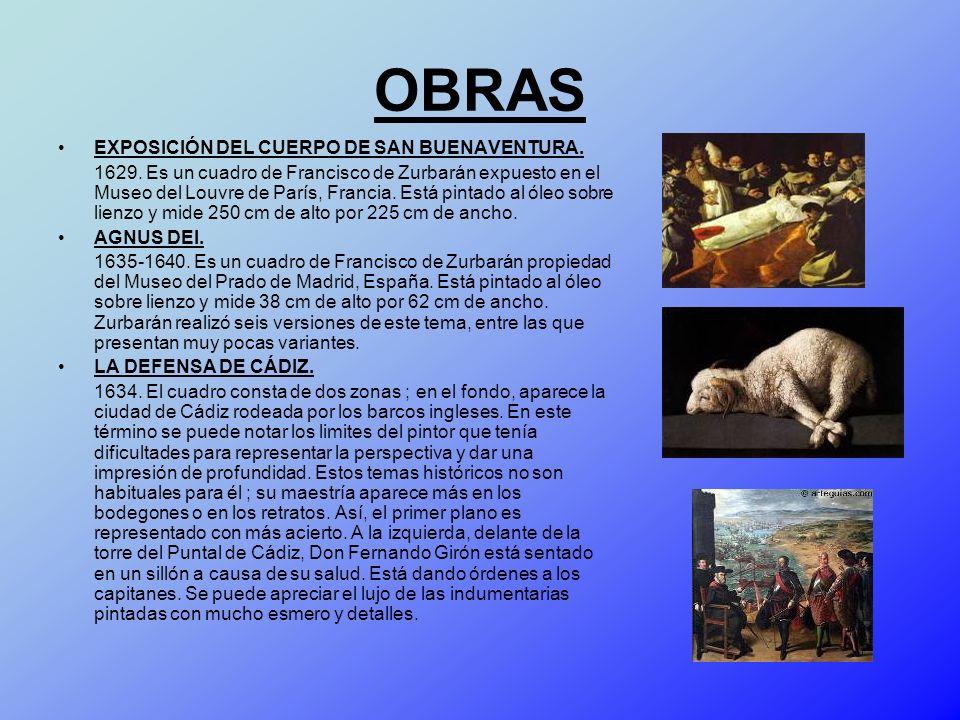 OBRAS EXPOSICIÓN DEL CUERPO DE SAN BUENAVENTURA.