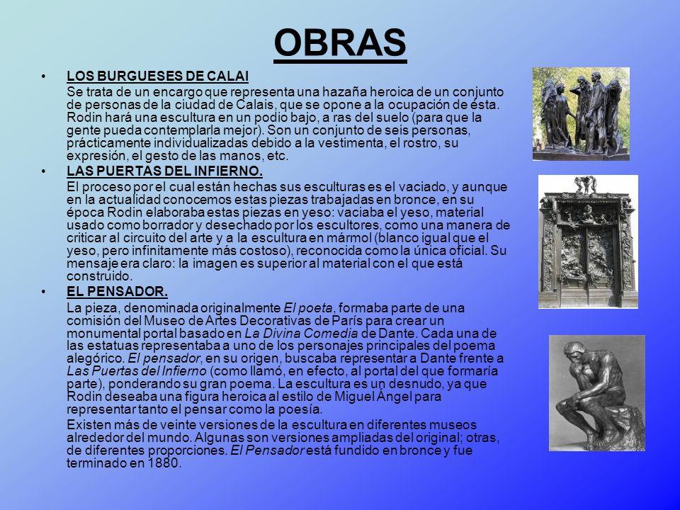 OBRAS LOS BURGUESES DE CALAI