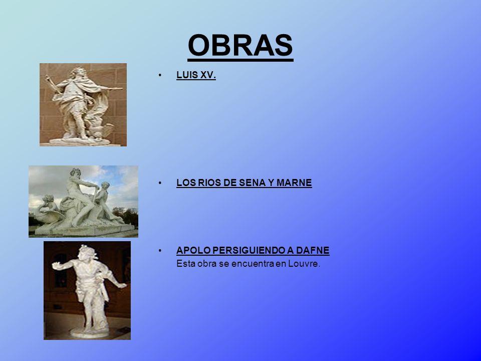 OBRAS LUIS XV. LOS RIOS DE SENA Y MARNE APOLO PERSIGUIENDO A DAFNE