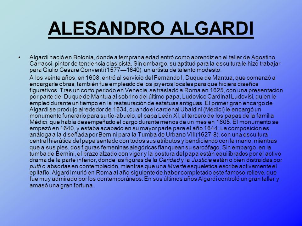 ALESANDRO ALGARDI