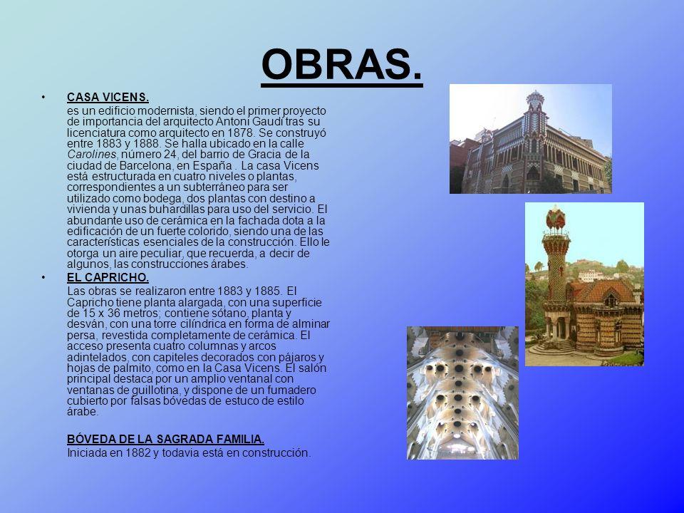 OBRAS. CASA VICENS.