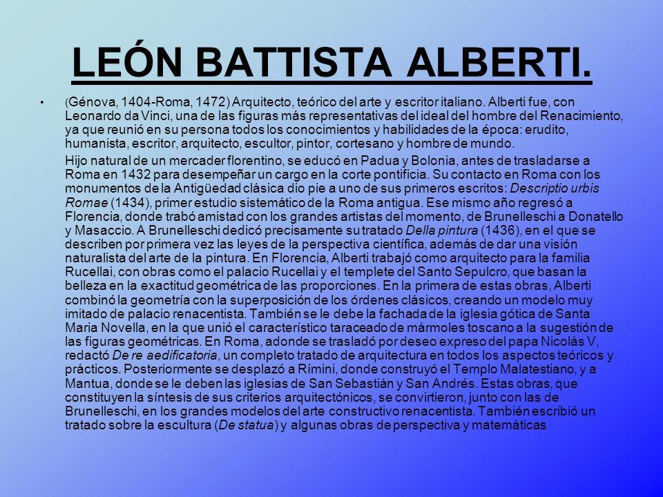 LEÓN BATTISTA ALBERTI.
