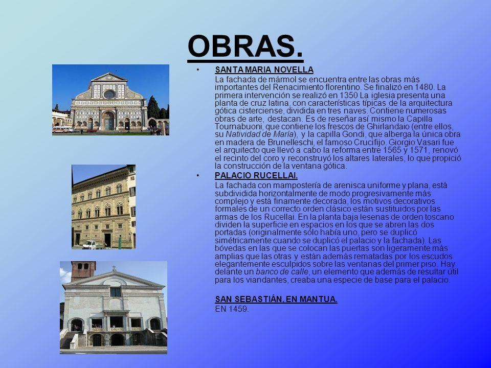 OBRAS. SANTA MARIA NOVELLA