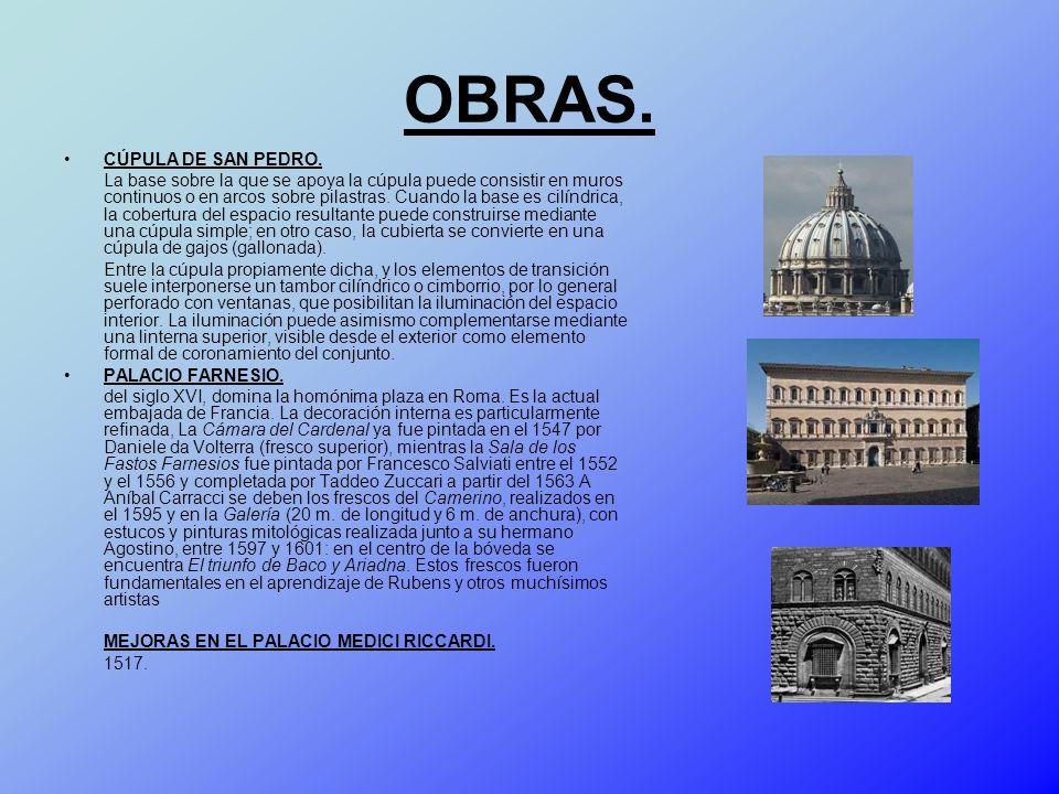 OBRAS. CÚPULA DE SAN PEDRO.