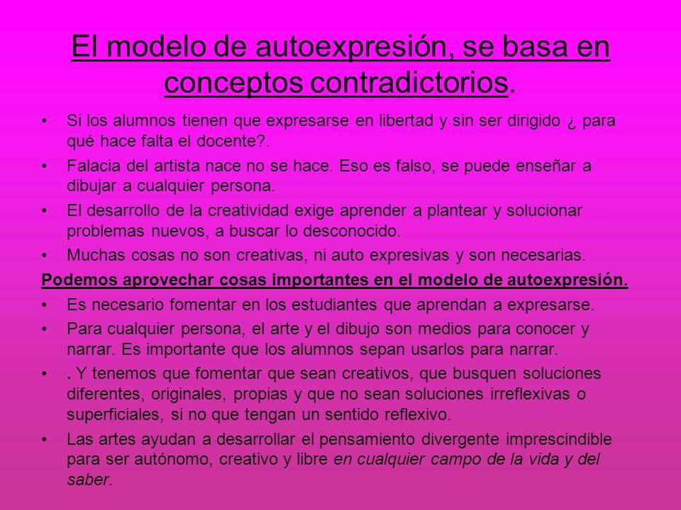 El modelo de autoexpresión, se basa en conceptos contradictorios.