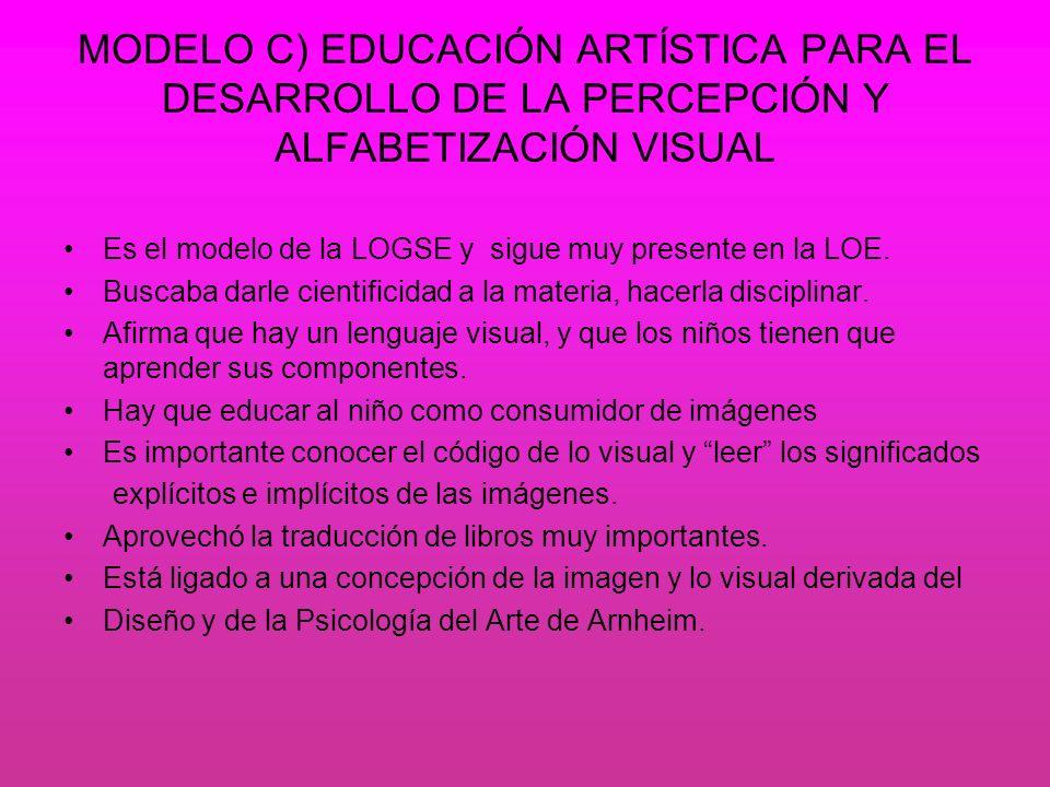 MODELO C) EDUCACIÓN ARTÍSTICA PARA EL DESARROLLO DE LA PERCEPCIÓN Y ALFABETIZACIÓN VISUAL