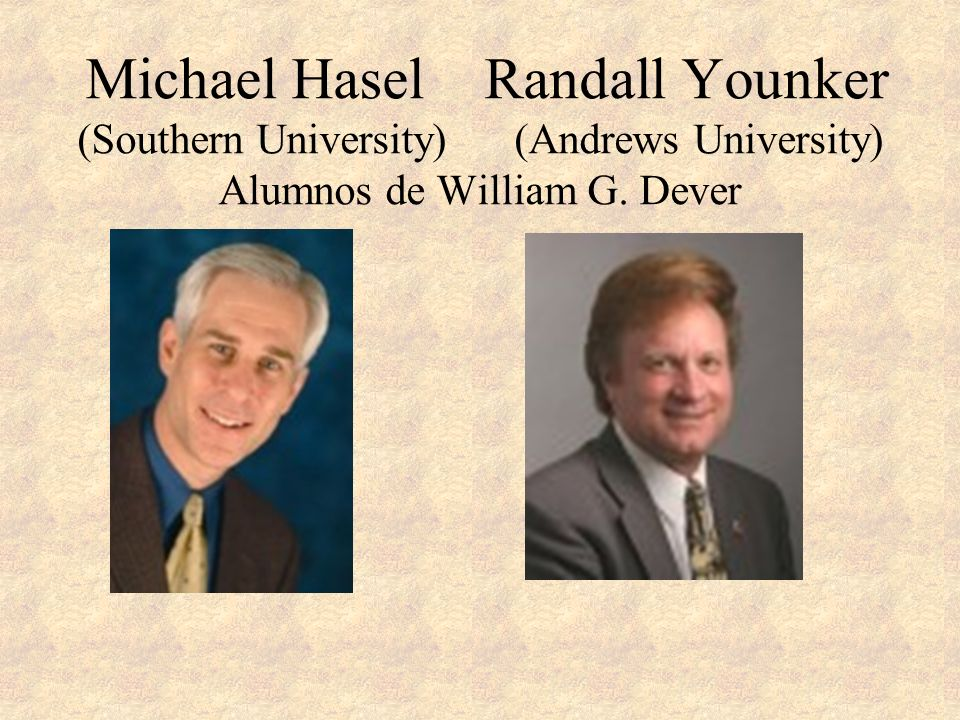 Michael Hasel Randall Younker (Southern University)