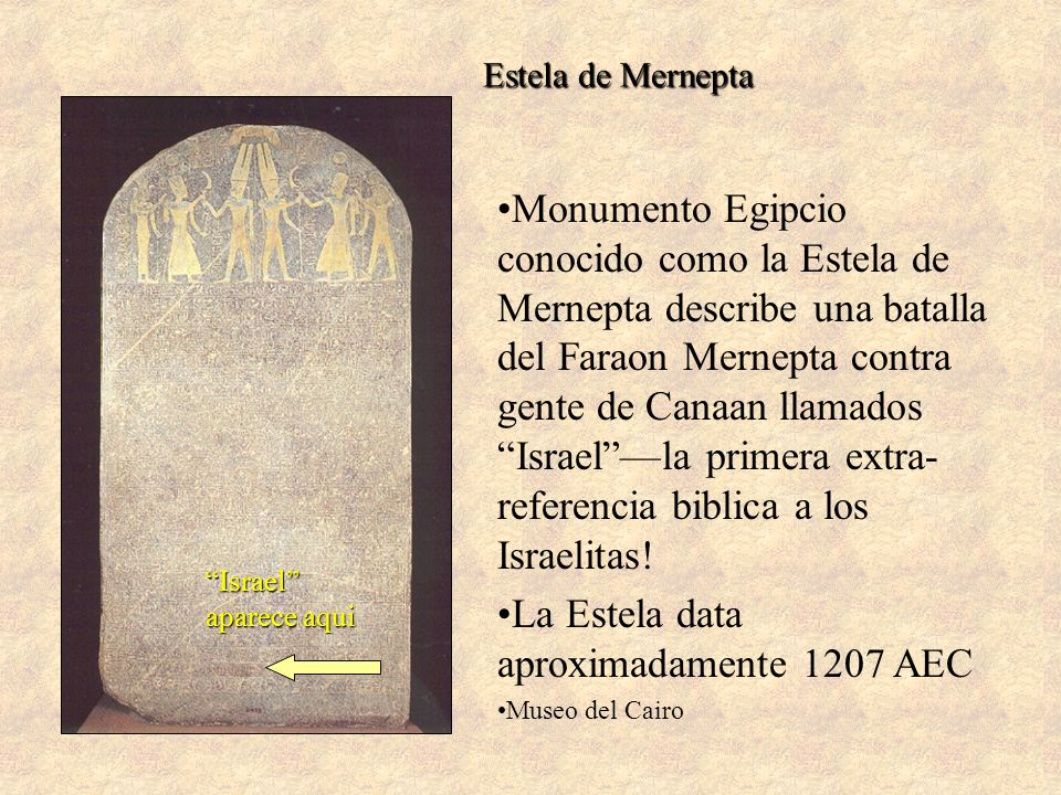 La Estela data aproximadamente 1207 AEC