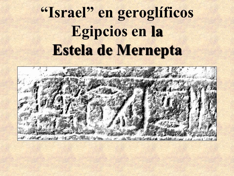 Israel en geroglíficos Egipcios en la Estela de Mernepta