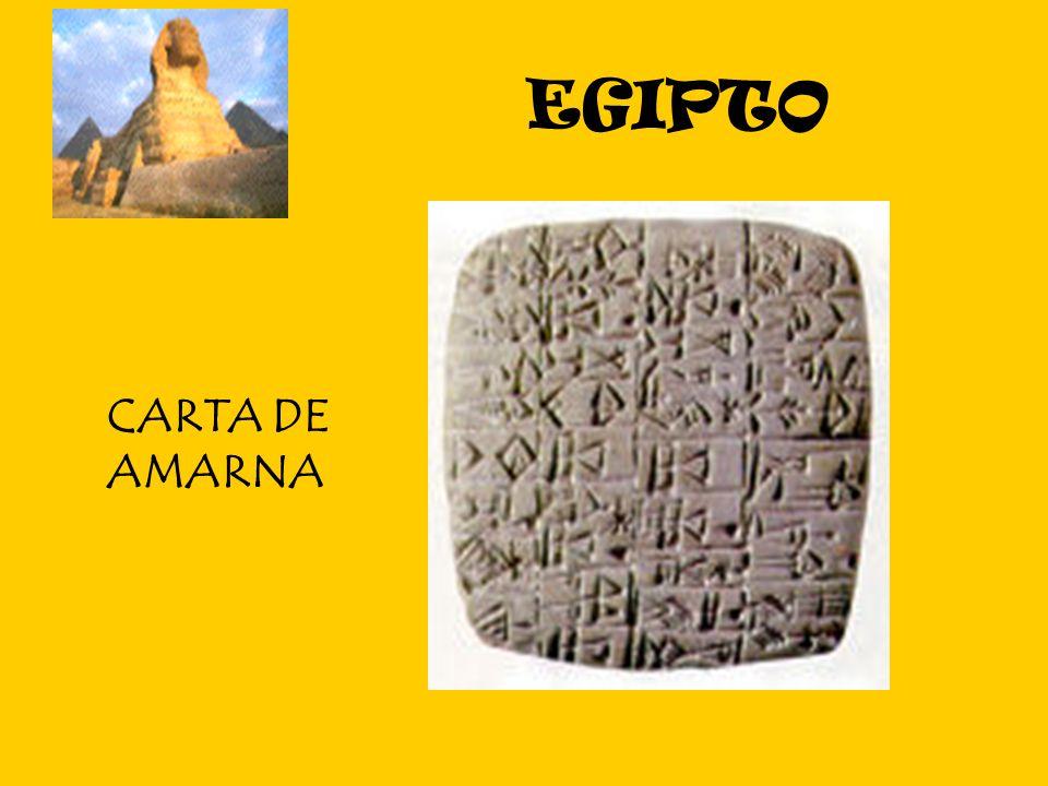 EGIPTO CARTA DE AMARNA