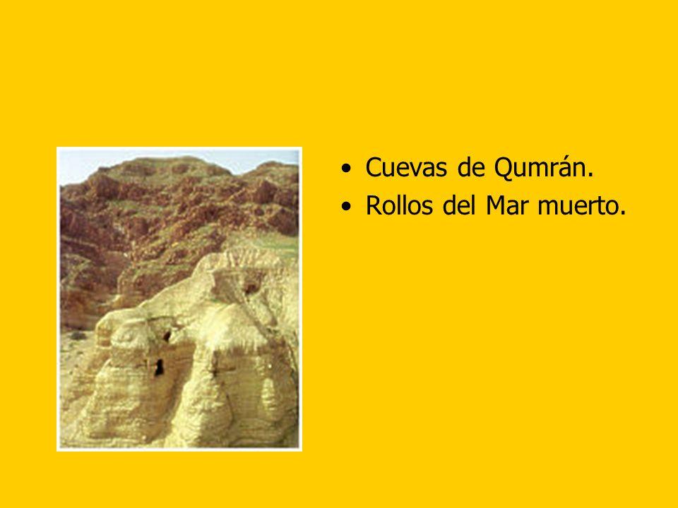 Cuevas de Qumrán. Rollos del Mar muerto.