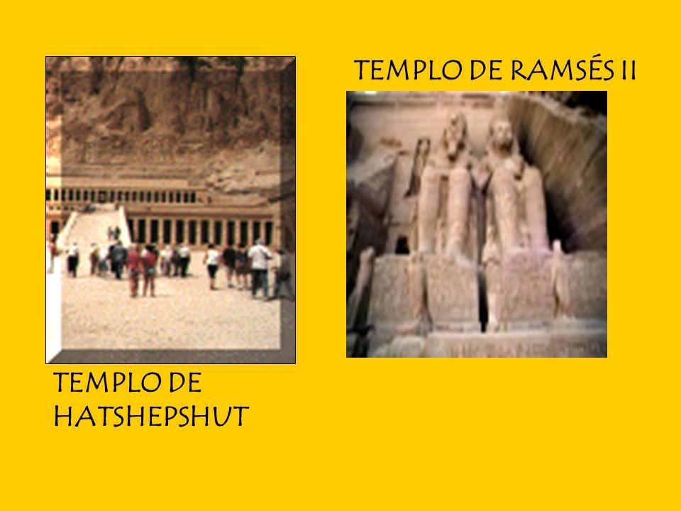 TEMPLO DE RAMSÉS II TEMPLO DE HATSHEPSHUT
