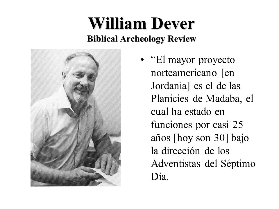 William Dever Biblical Archeology Review