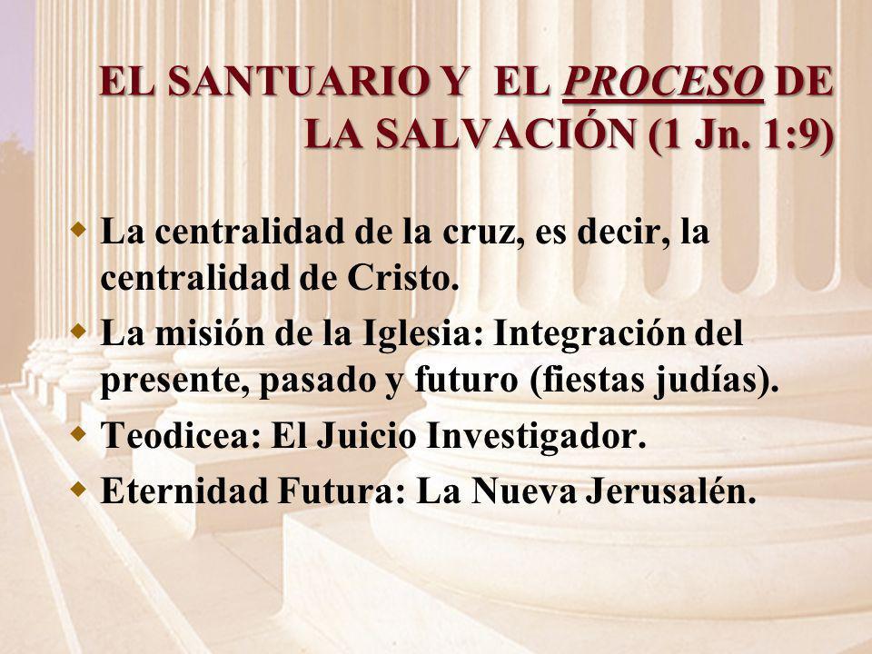 EL SANTUARIO Y EL PROCESO DE LA SALVACIÓN (1 Jn. 1:9)