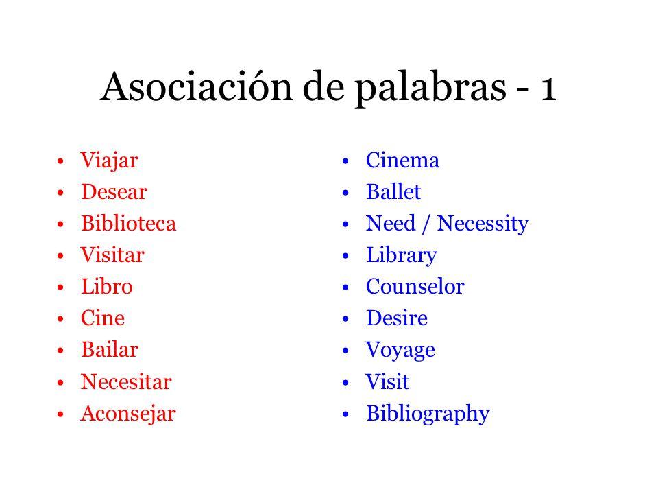 Asociación de palabras - 1