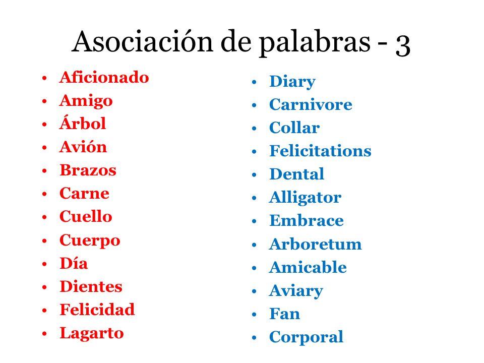 Asociación de palabras - 3
