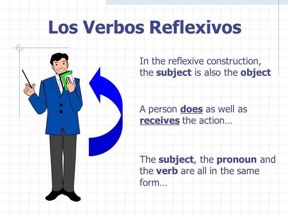 Los Verbos Reflexivos In the reflexive construction,