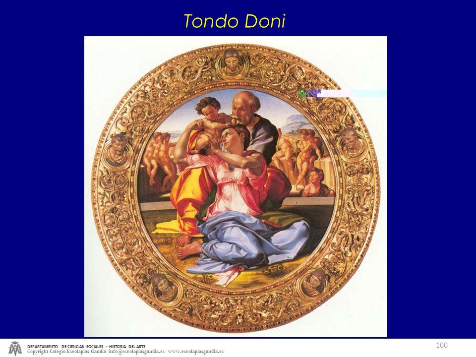 Tondo Doni DEPARTAMENTO DE CIENCIAS SOCIALES – HISTORIA DEL ARTE.