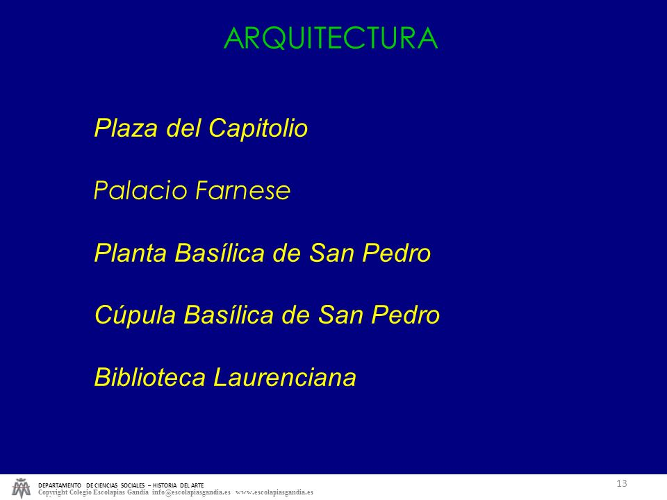 ARQUITECTURA Plaza del Capitolio Palacio Farnese