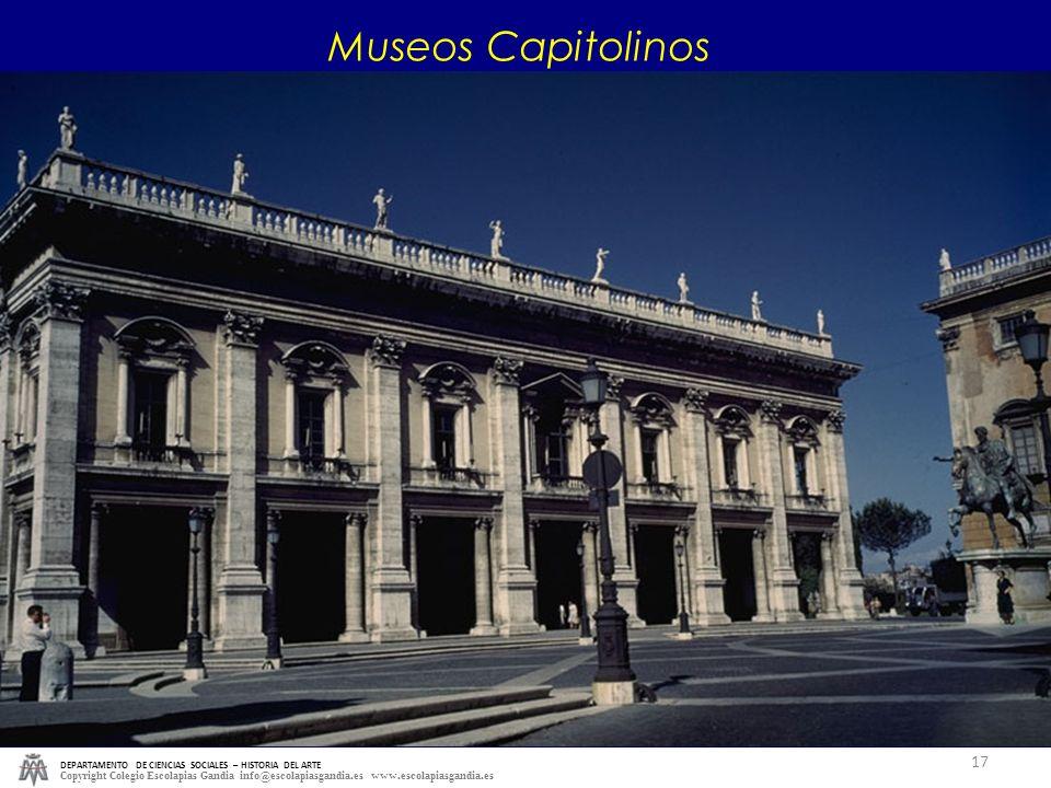 Museos Capitolinos DEPARTAMENTO DE CIENCIAS SOCIALES – HISTORIA DEL ARTE.